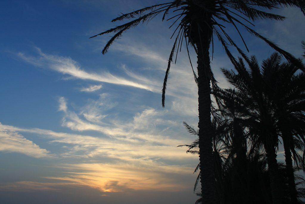 Coucher Soleil Plage Sistan Balouchistan Chabahar Darak Beach Sud Iran