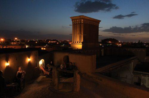 Soirée en rooftop à Yazd