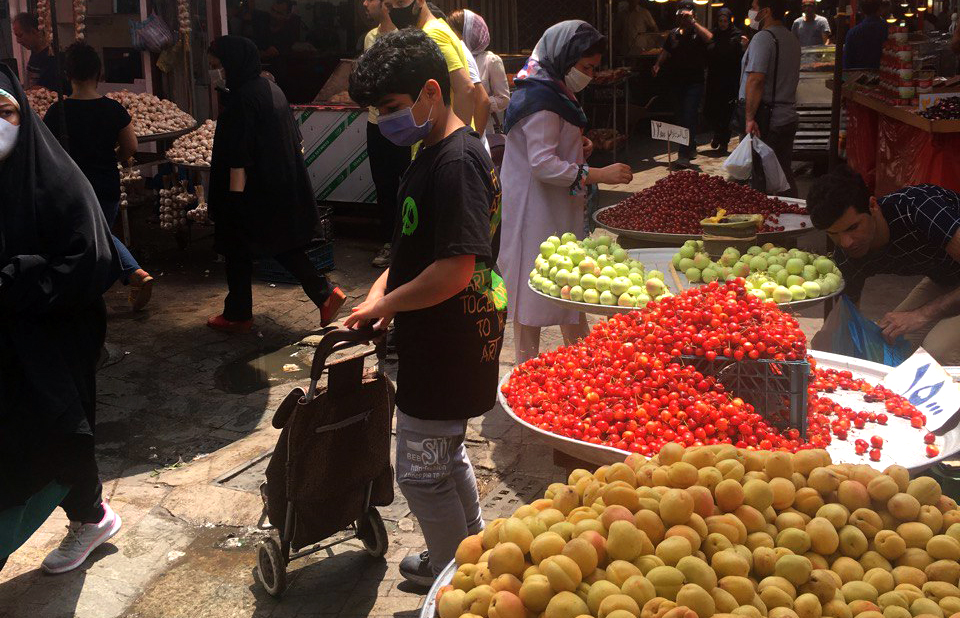 Bazaar de Rasht pendant le Covid19